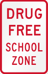 Drug free school zone