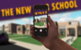 Cell phone takes pic of new school rendering