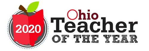 "Apple and says ""ohio teacher of the year"""