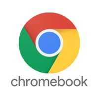 Red Green Yellow blue chrome logo says:chromebook