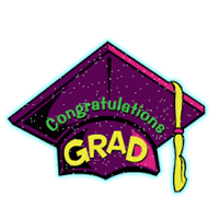 purple graduation cap says:Congratulations Grad