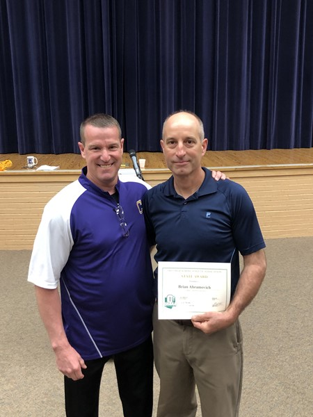 Congratulations Brian Abramovich who was awarded the OHSAA Exemplary Service Award