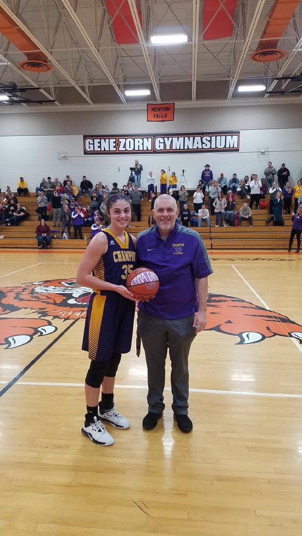 Congratulations to Emma Gumont on scoring her 1,000th point.