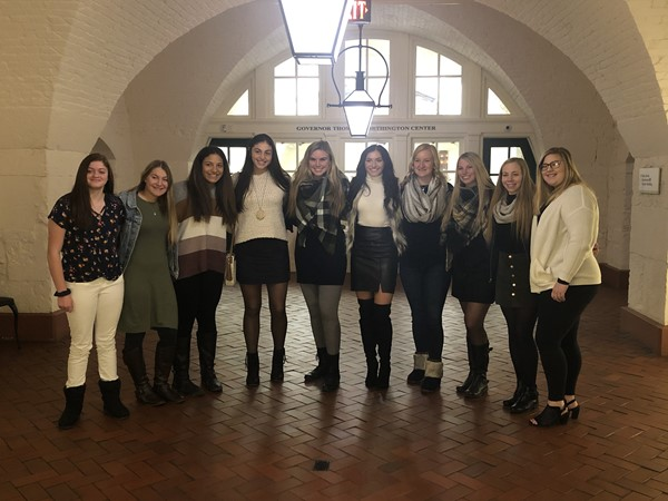 Softball team recognized at the State Capitol.