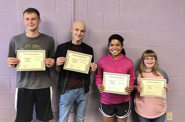 Congratulations to our Students of the Month.