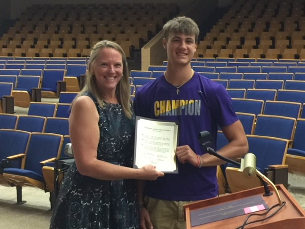 Board recognizes sporting excellence