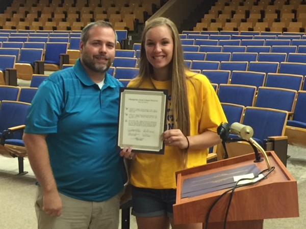 Board recognizes sports excellence