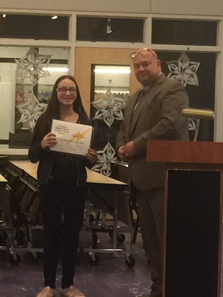Honors band awardee