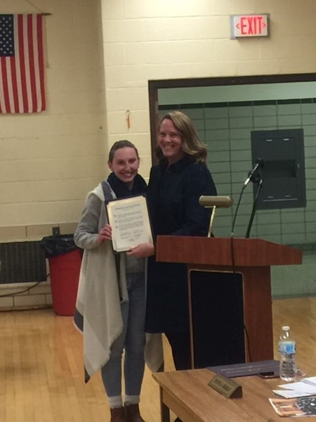 Mrs Fisher honors student for new soccer record career goals