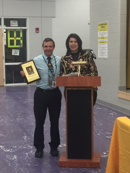Mr. Murduck, 5th grade teacher inducted into Champion Schools Employee Hall of Fame