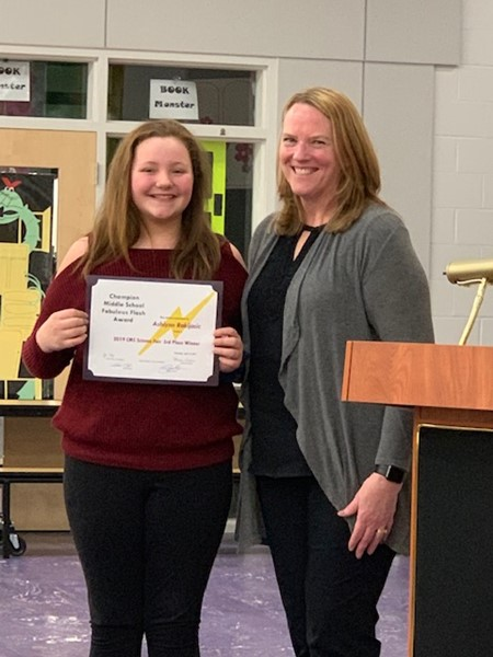 Student excellence recognized by Mrs Fisher