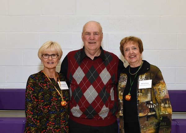 Bob smith Senior Citizen of the Year with Kathy Bronson mistress  of ceremony and Merial Price, Rotary past President