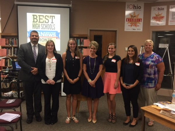 Principals shown with new teachers for 2016/17 school year