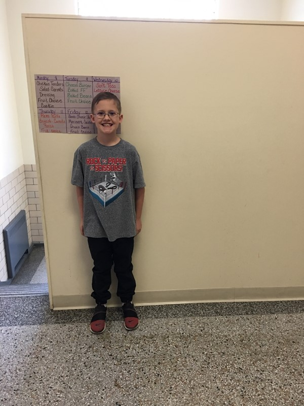 This student has been chosen by a fellow student to help out each day at dismissal time during the first half of January. Congratulations!