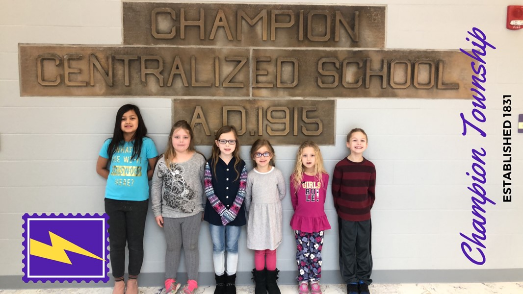 Central would like to congratulate our January 2019 Students of the Month. They were chosen by their teachers because they have done an excellent job of displaying our character trait of responsibility this month. We are proud of them!