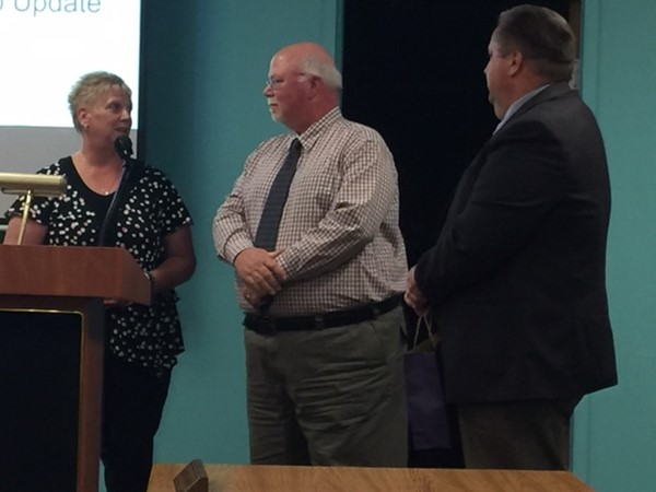 Board recognizes Mr. Luteran,