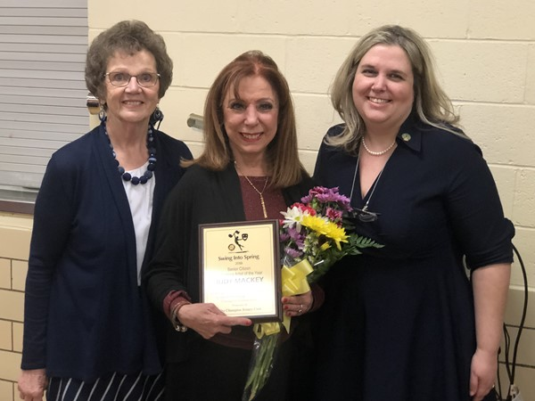 Congratulations to Judy Mackey! Pictured with Mrs. Genos and Mrs. Sisler