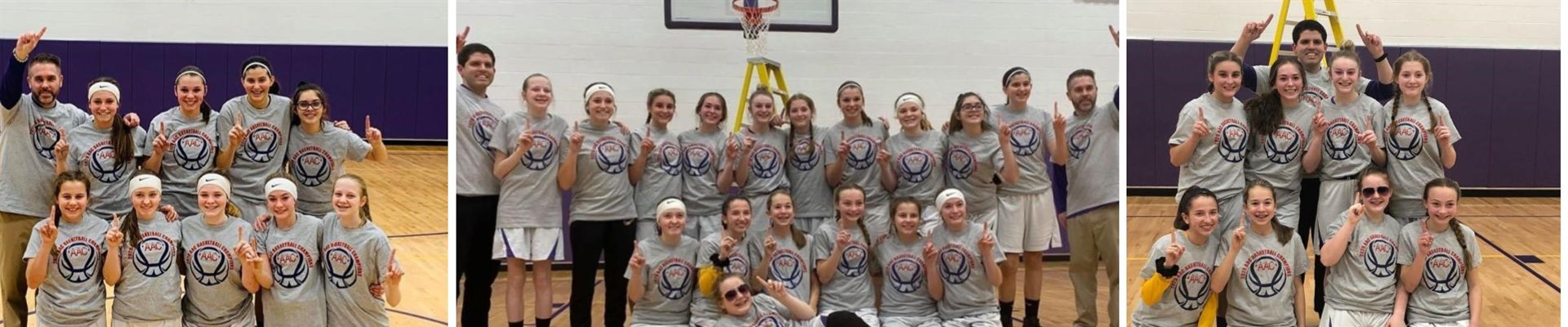 7th and 8th grade girls basketball champions