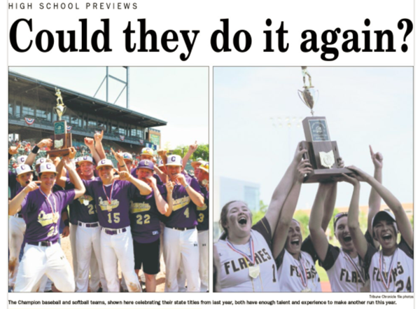 Could they do it again?  Baseball and Softball teams