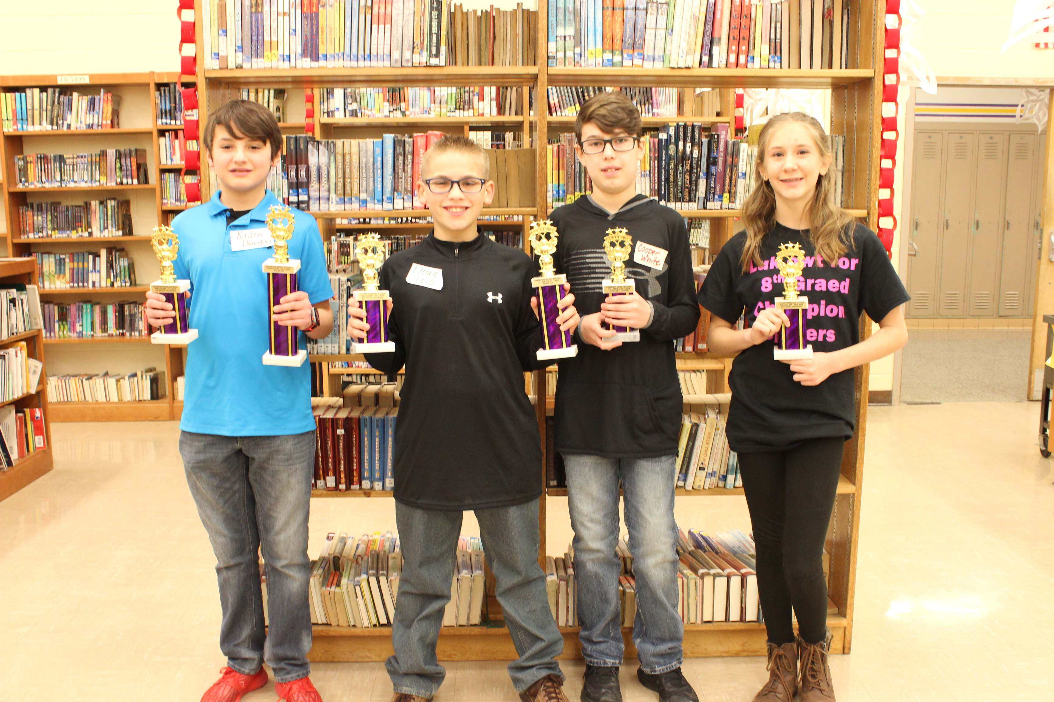 CMS Spelling Bee Champion, Runner-up and Grade Level winners