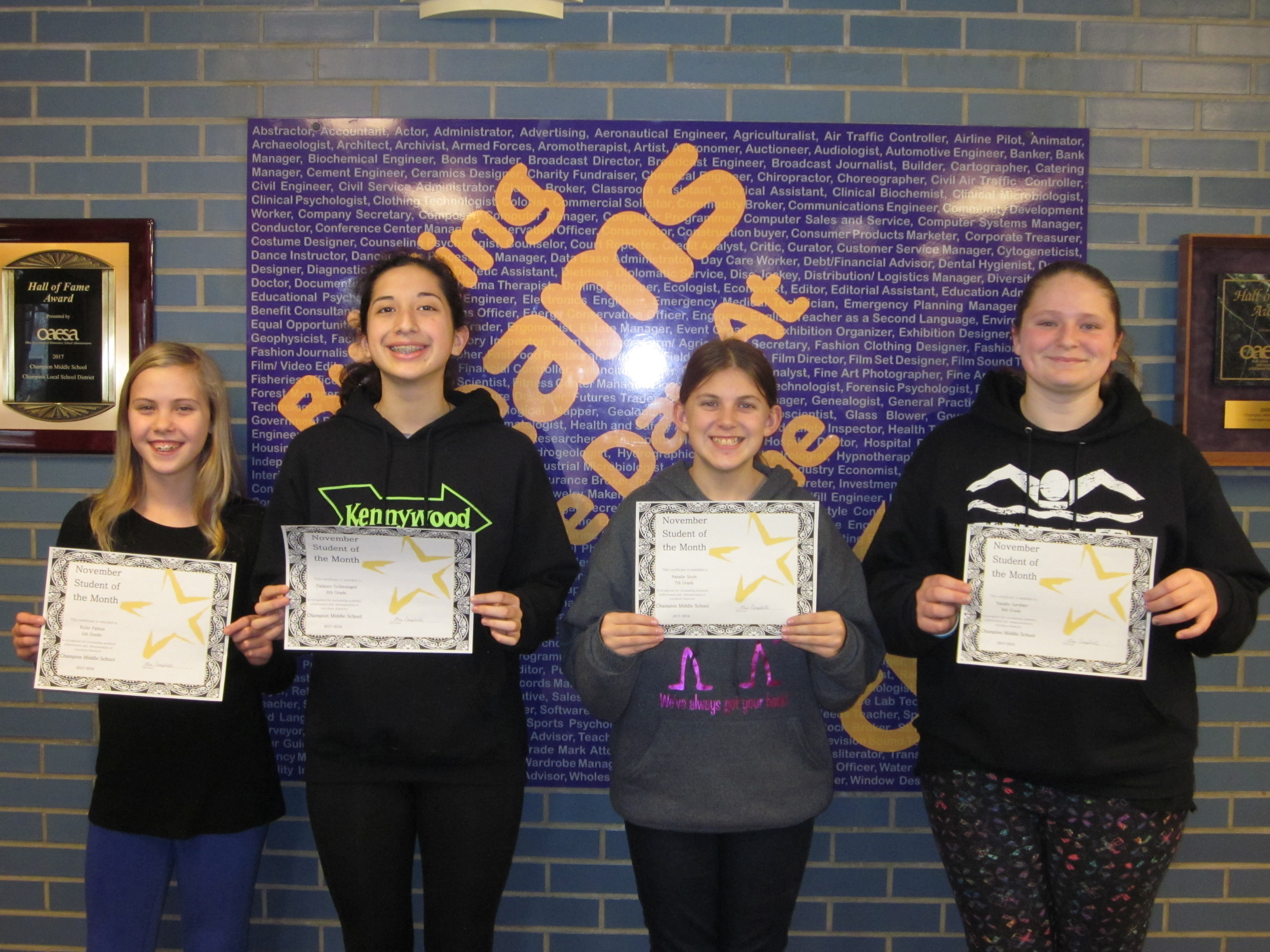 2017 November Students of the Month