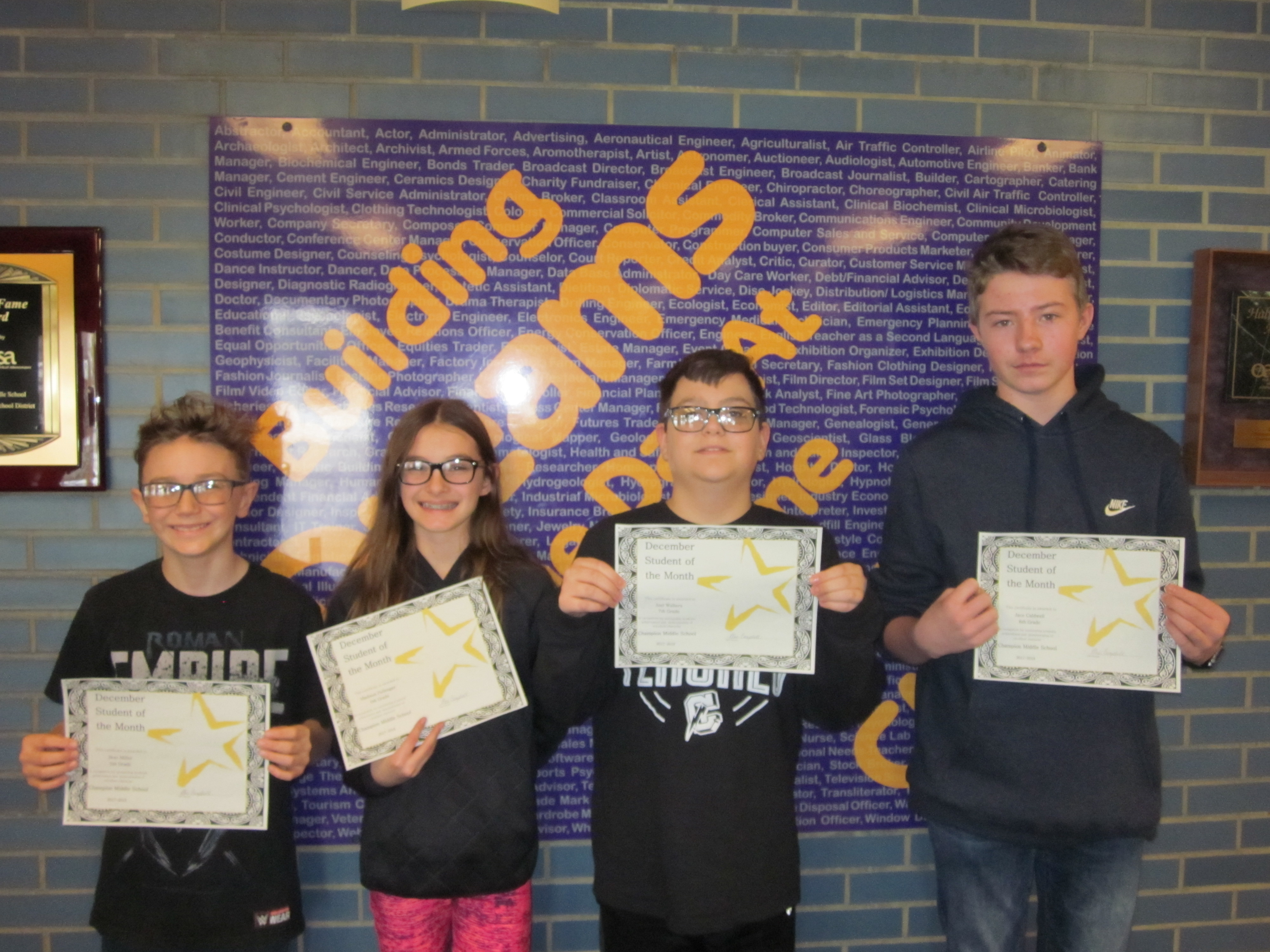 2017 December Students of the Month
