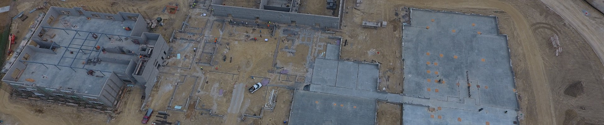 New PK-8 School Building drone view