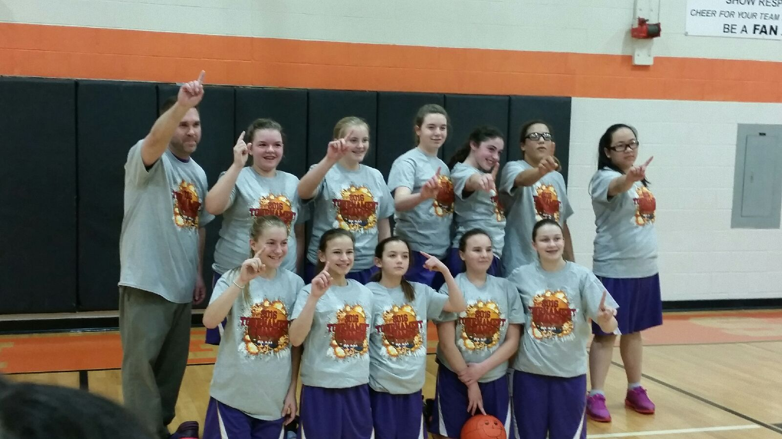 Champion 7th Grade Girls Basketball Team – 2016 AAU Blue Tier Tournament Champions – Record 15-1