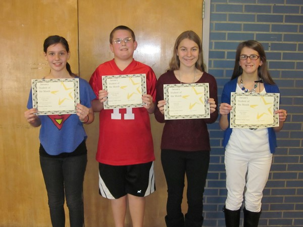 CMS January 2016 Students of the Month