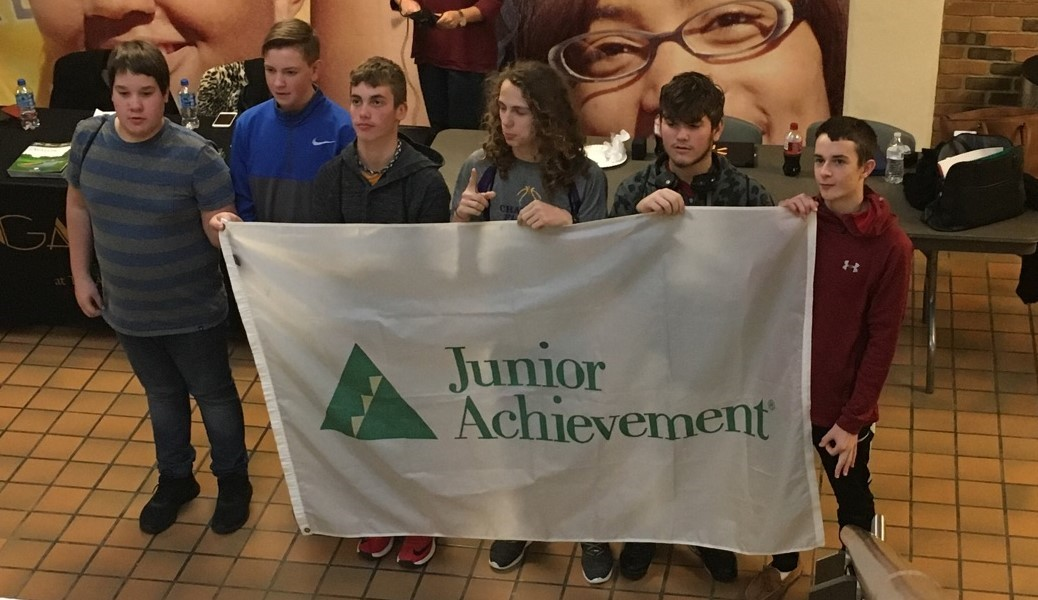 Several 8th graders attended Junior Achievement at KSU Trumbull