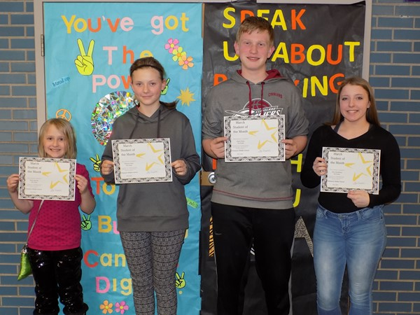 CMS March 2016 Students of the Month