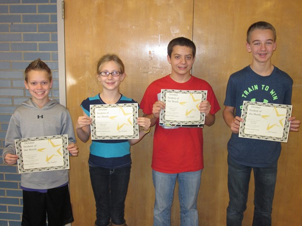 CMS October 2015 Students of the Month