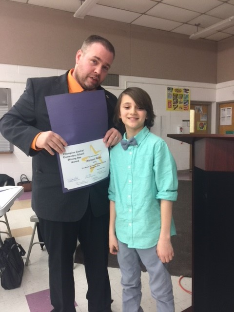 Mr. Pitts and Board of Education recognize 2018 Spelling Bee winners