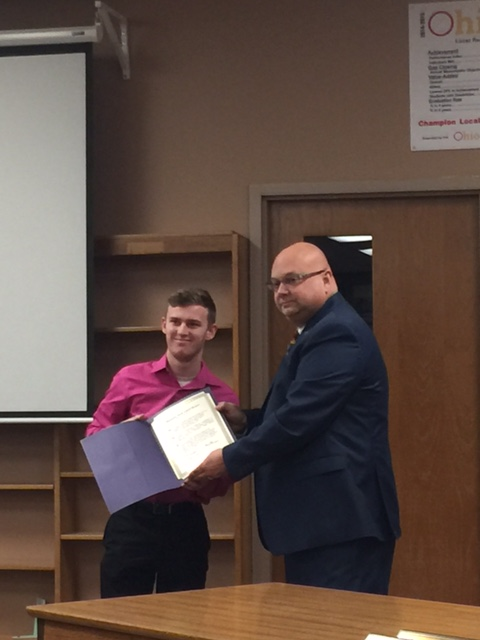 State bowling athlete saluted by Board of Education