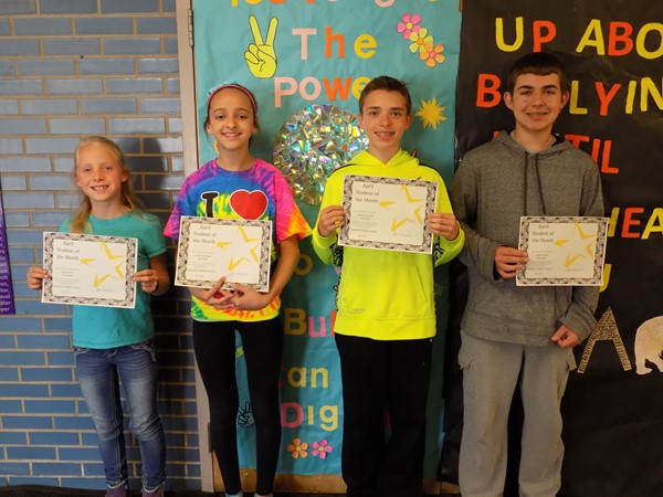 CMS April 2016 Students of the Month