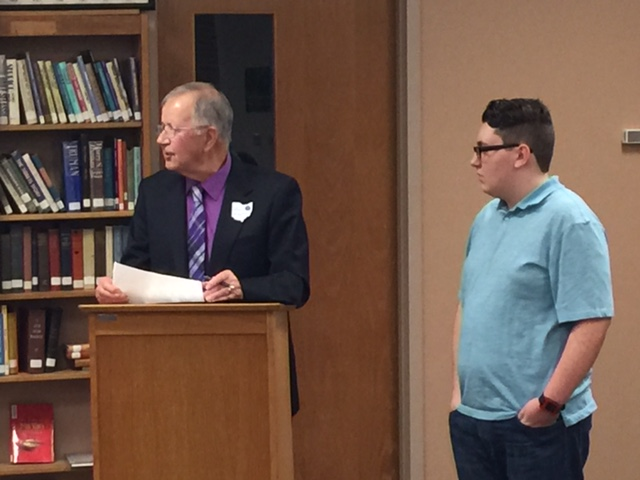 Board Members Recognize Student Achievements