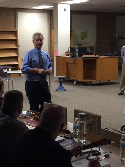 Brent Hendricks, from BSHM Architects presented to the Board at its April 24 meeting