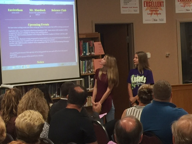 CMS students showcase the new Science Club webpage