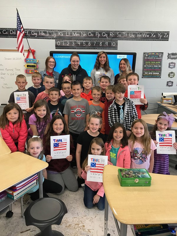 CHS students visit a second grade classroom to write letters to some very important people: veterans!