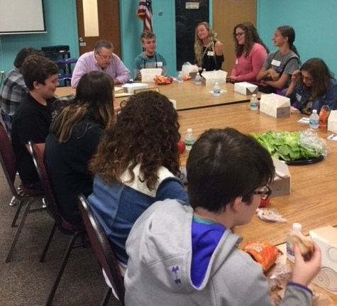 The Board of Education met with selected 8th graders on Monday Sept. 24 to get student input into issues of school classes, discipline, cafeteria food, student activities and safety matters.