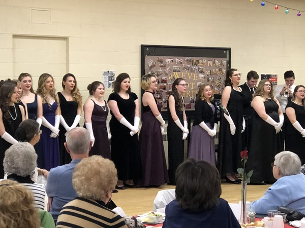 CHS students sing for guests