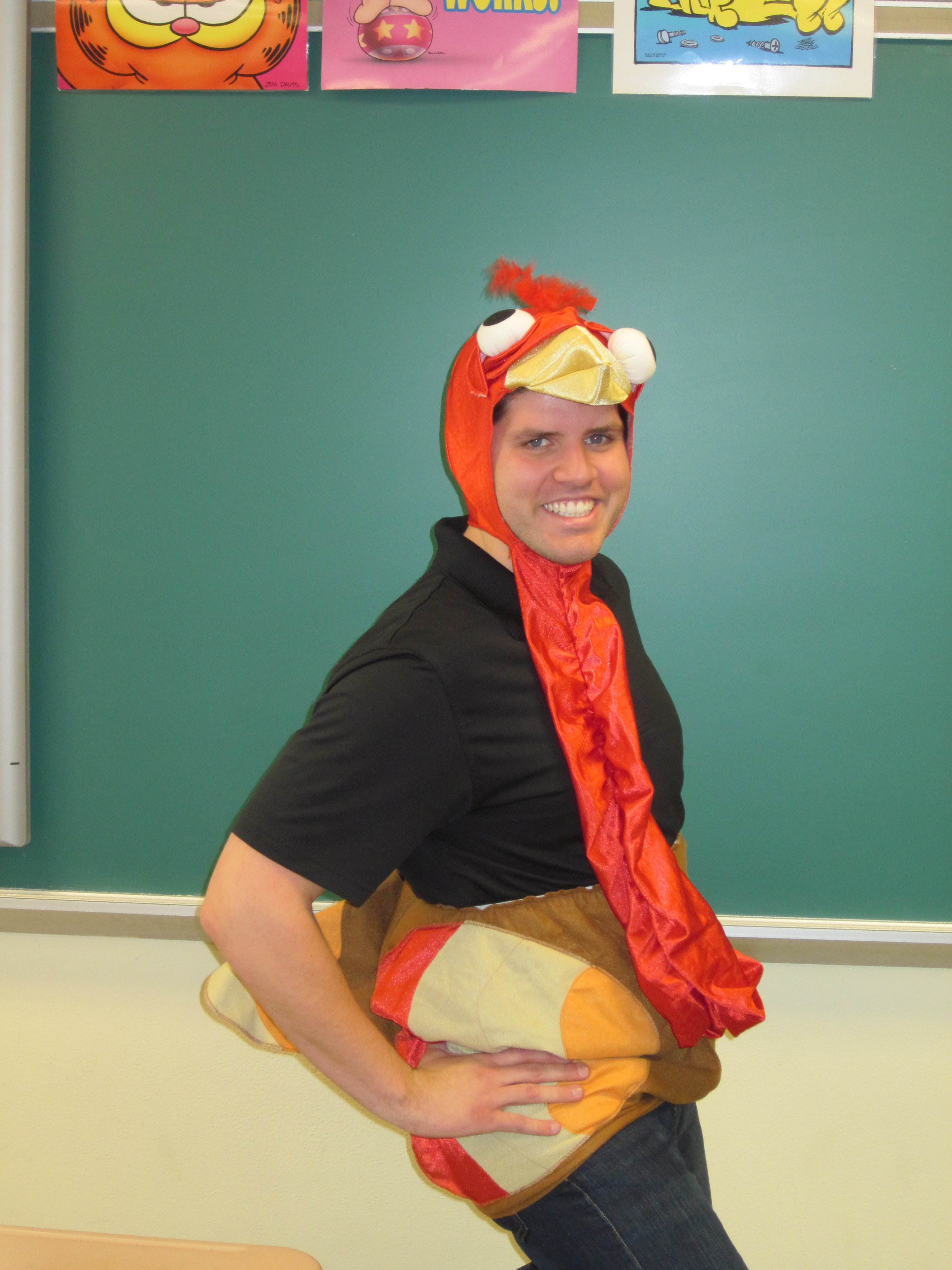 "Mr. Harris voted ""Top Turkey"" by CMS students."
