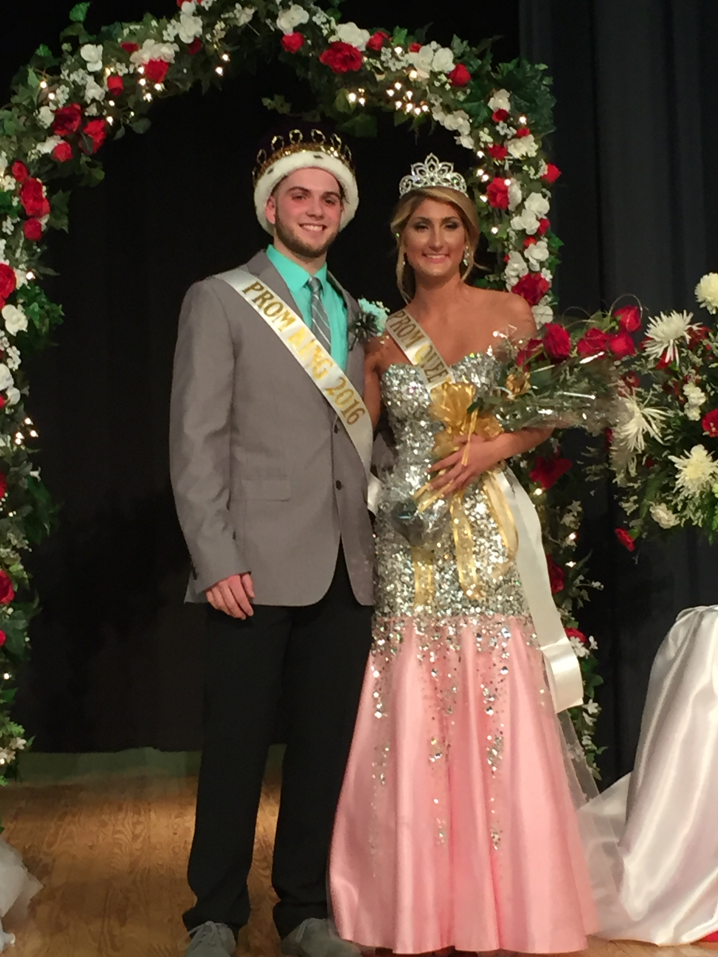 Congratulations to the 2016 prom King and Queen, Matthew Callahan and Logan Likens