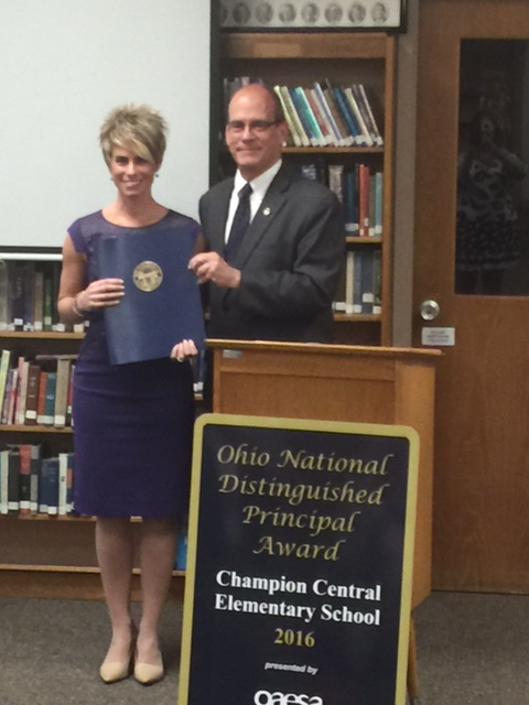 Ohio Distinguished Principal Award Recognition