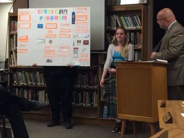 CMS Science Fair Honored by Board President, Dave Mahan