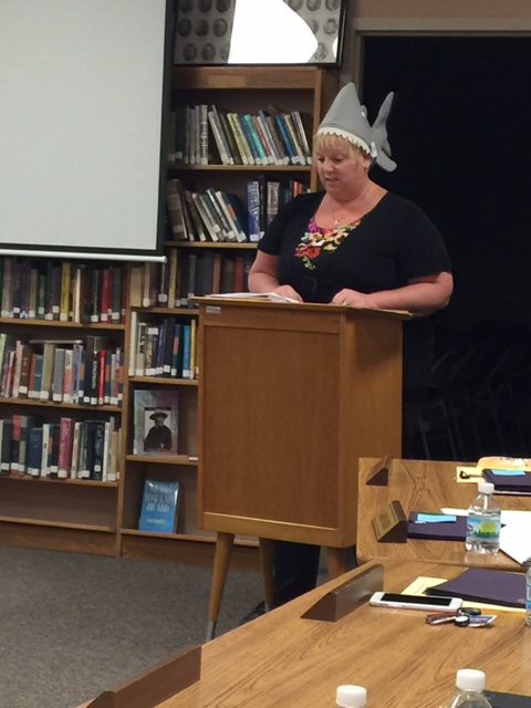Mrs. Campbell, CMS Principal Promotes the 8th Grade Shark Tank Competition