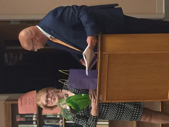 Carolyn Stear, Superintendent's secretary honored - 25 years of service to Champion schools