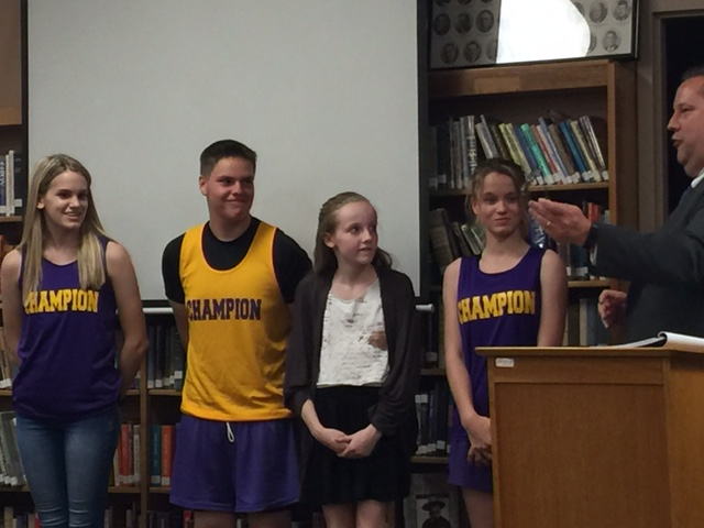CMS Students Recognized by Board Member, Jim Scher