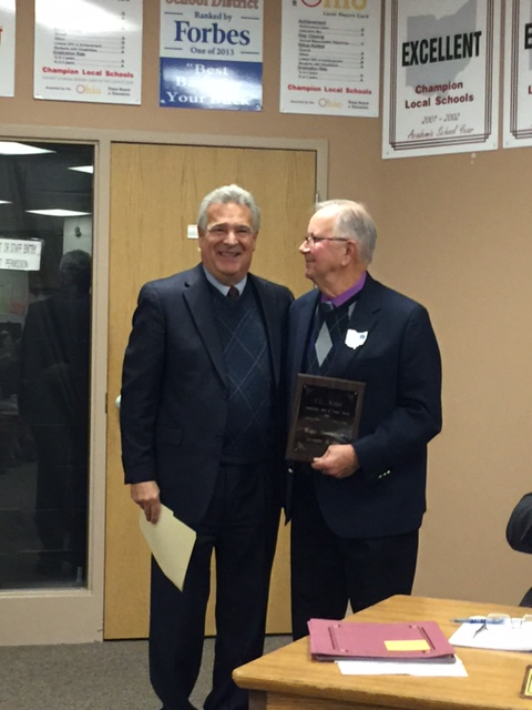Board Members Honored C. C. Kiser Award