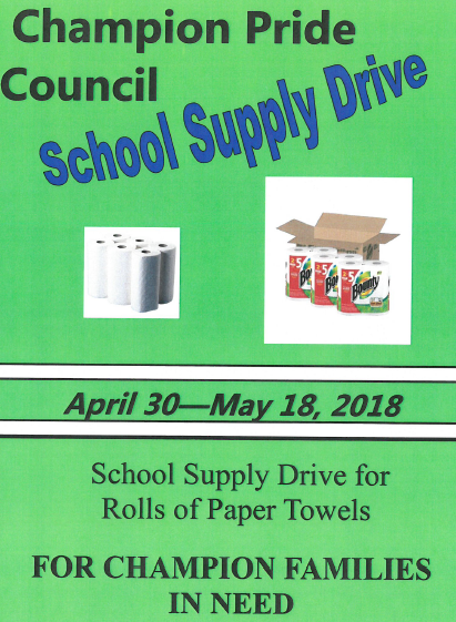 Champion Pride Council School Supply Drive